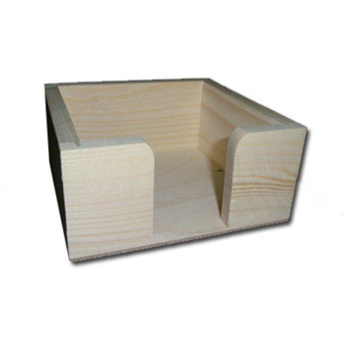 Koka piezīmju lapiņu turētājs 112x112x55 mm /ZSKK180/