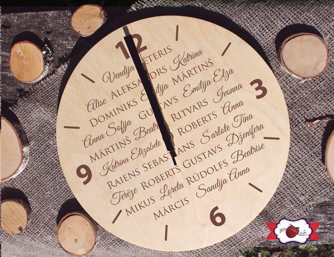 Koka pulkstenis ar gravējumu - Izlaidums