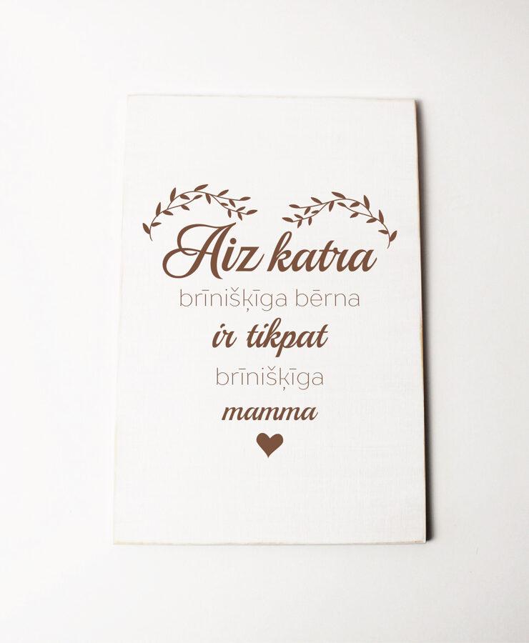 Koka dekors baltā krāsā- Brīnišķīga mamma