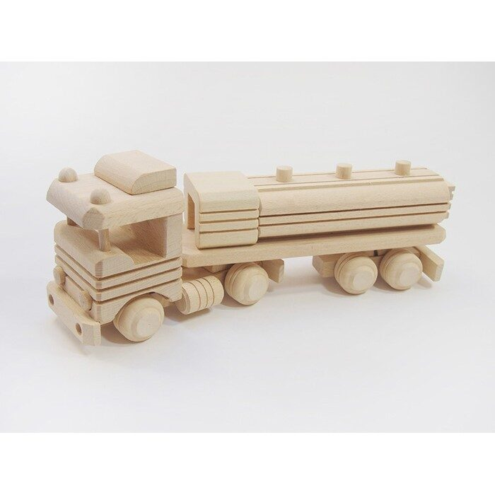 Koka rotaļlieta - auto ar cisternu 290x70x110 mm. /ZSKK203/
