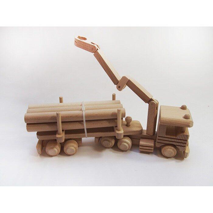 Koka rotaļlieta - baļķvedējs  335x90x100 mm /ZSKK204/