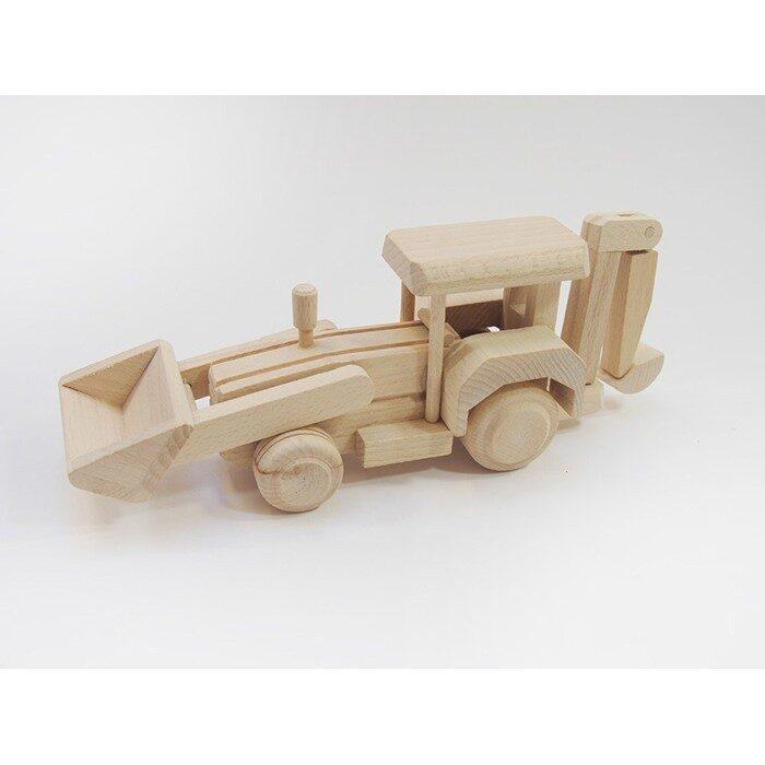 Koka rotaļlieta - ekskavators 270x70x100 mm /ZSKK205/
