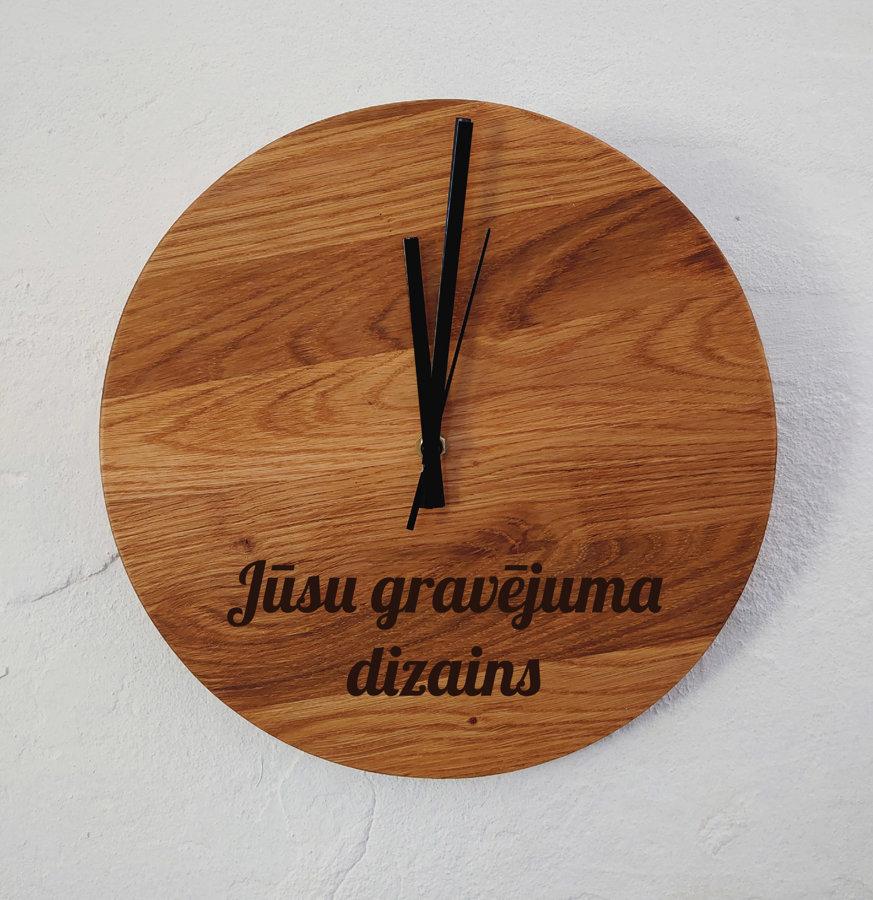 Koka pulkstenis ar gravējumu - Individuāls pasūtījums