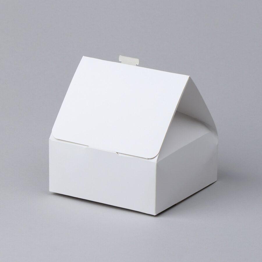 """Dāvanu kaste 125x125x55(+70)mm """"Baltā mājiņa"""" /ZSK46/"""