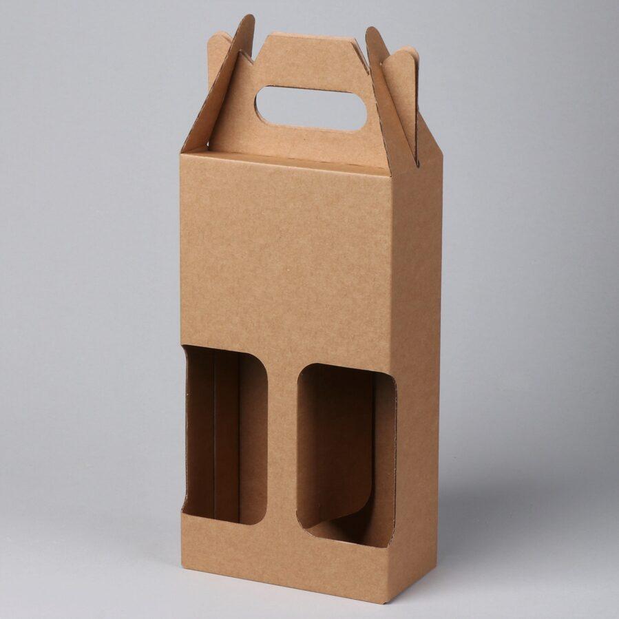 Gofrētā kartona kaste 2 pudelēm 0,5L  72x255x140 /ZSK15/