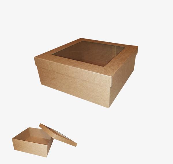 Kartona kaste ar logu 250 x 250 x 100 mm /ZSK48/