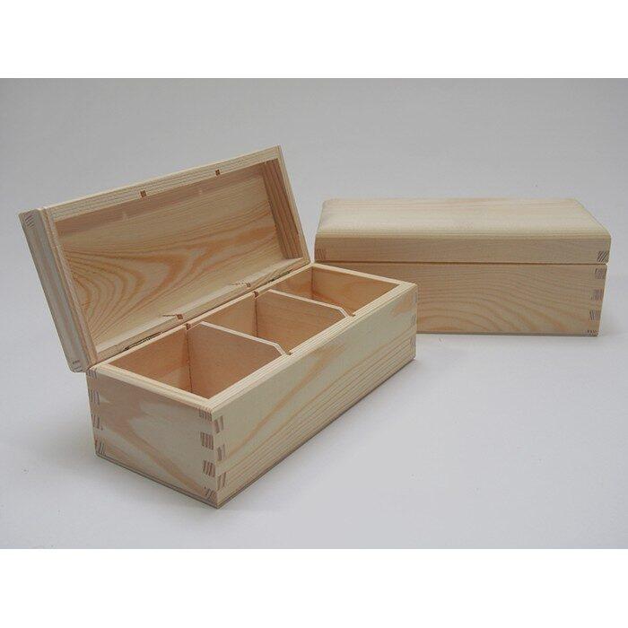 Koka kaste ar 3 nodalījumiem 220x95x80mm /ZSKK28/