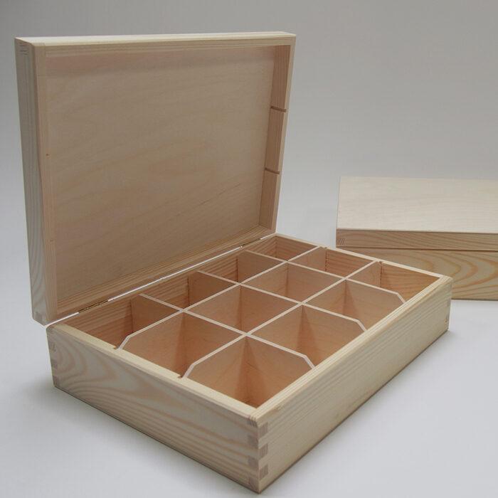Koka kaste ar 12 nodalījumiem  295x225x78mm /ZSKK33/