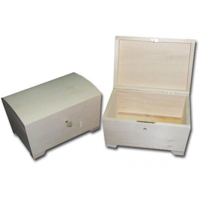 Koka kaste - lādīte ar atslēgu (liela) 200x140x125 mm. /ZSKK110/