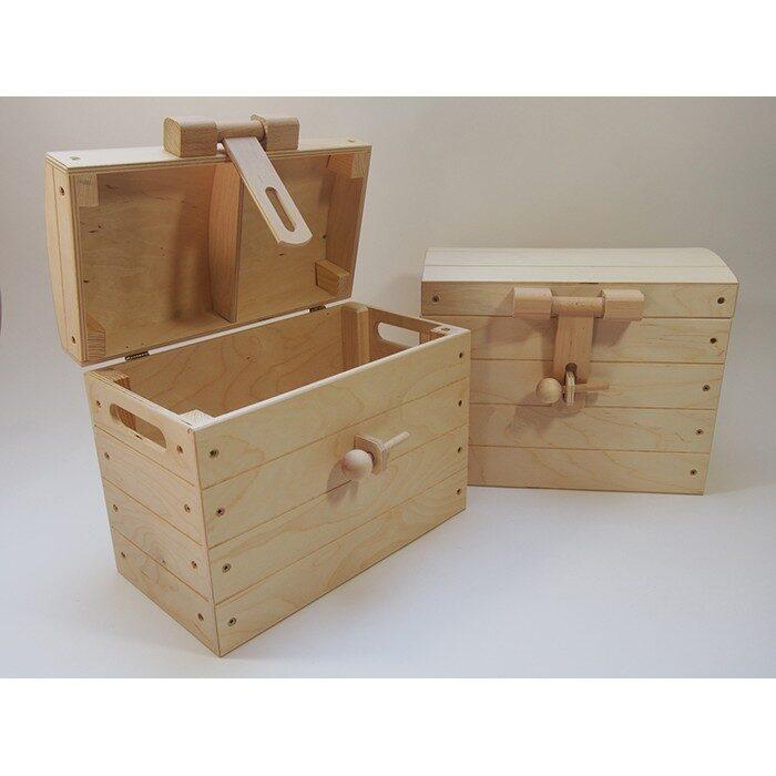 Koka kaste -  lāde,  ar koka aizdari 360x230x290 mm /ZSKK89/