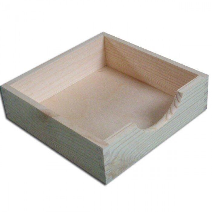 Koka kaste - salvešu turētājs 192x192x55 mm /ZSKK173/