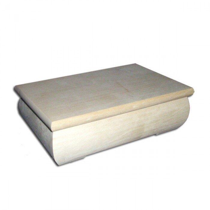 Vidēja koka kaste ar plakanu vāku 190x120x62 mm /ZSKK136/