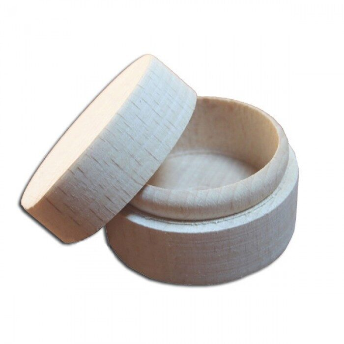 Koka kaste - lādīte gredzenam  d 40 mm, augstums - 25 mm /ZSKK21/