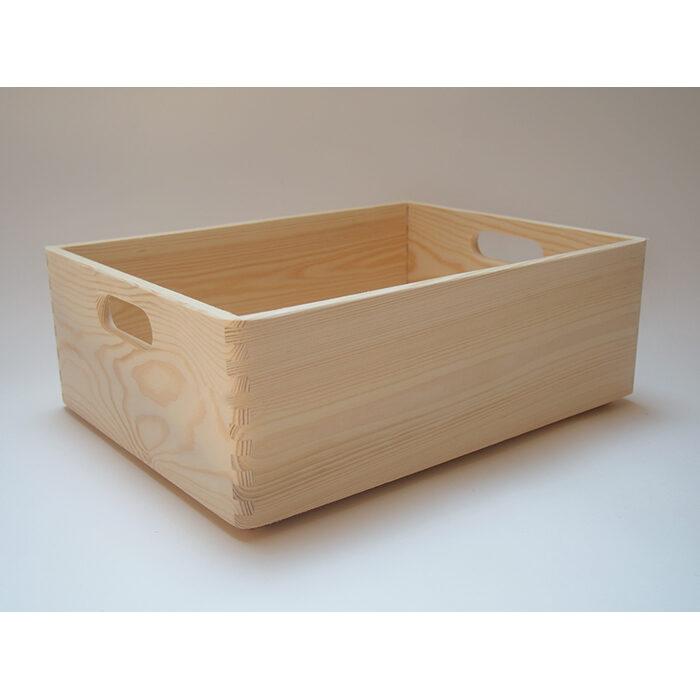 Koka kaste ar rokturiem (vidēja) 400x300x140mm /ZSKK97/