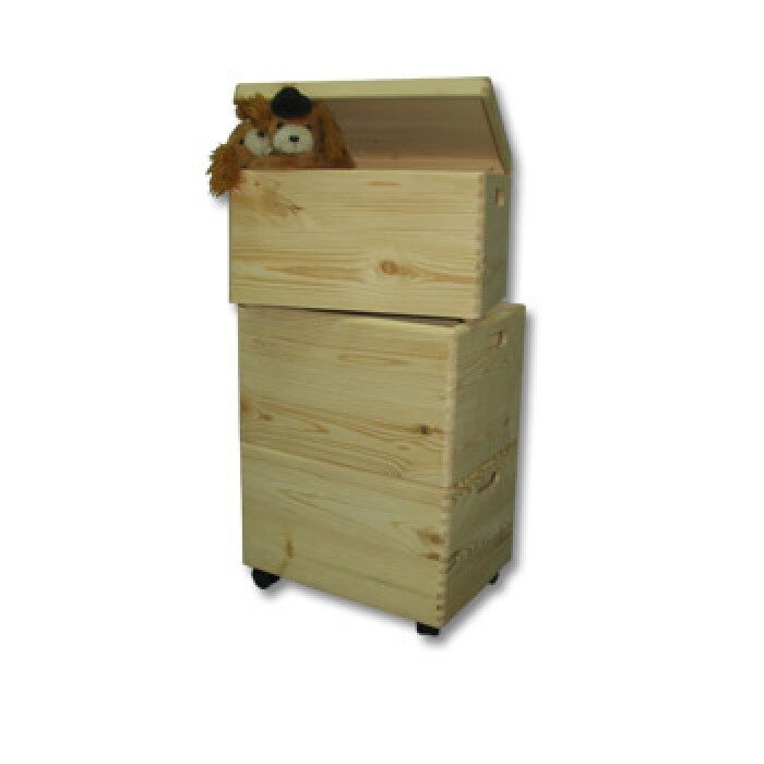 Koka mantu kastes komplekts TRIO uz ritentiņiem 400x300x450mm /ZSKK99/