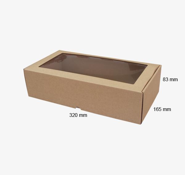 Kartona kastīte ar lodziņu 320 x 165 x 83 mm /ZSK10/