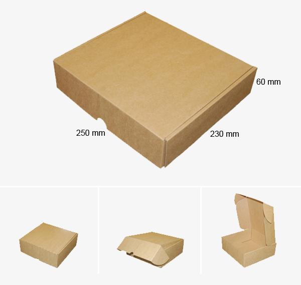 Kartona kastīte 250 x 230 x 60 mm /ZSK2/
