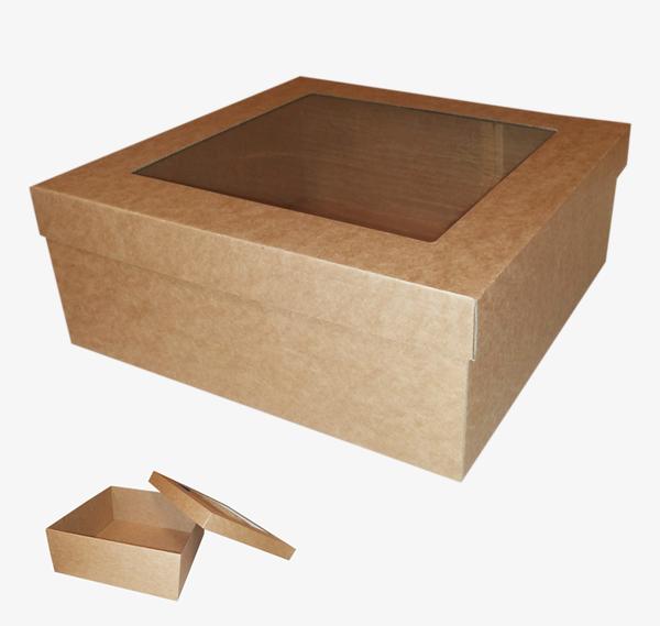Kartona kastīte ar lodziņu 310 x 310 x 120 mm /ZSK5/