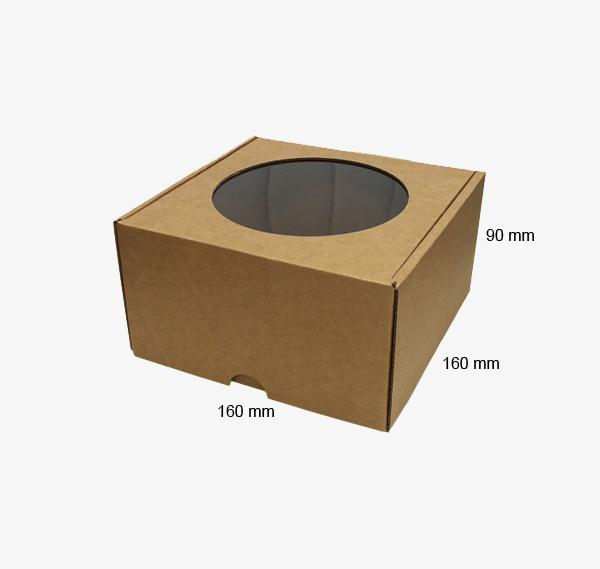 Kartona kastīte ar logu 160 x 160 x 90 mm /ZSK44/
