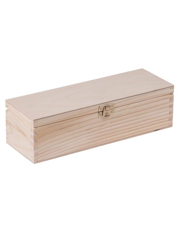 Koka kaste ar 4 nodalījumiem un aizdarīti 95x285x80 mm /ZSKK155/