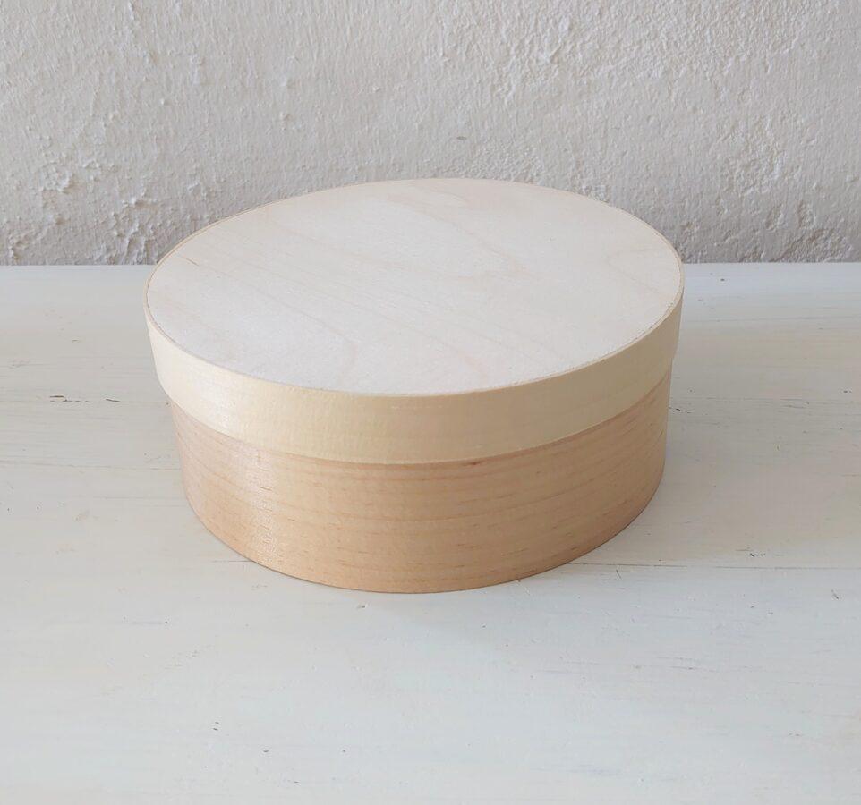 Vidēja, apaļa koka kaste D 14 mm, h 55 mm. /ZSKK5/