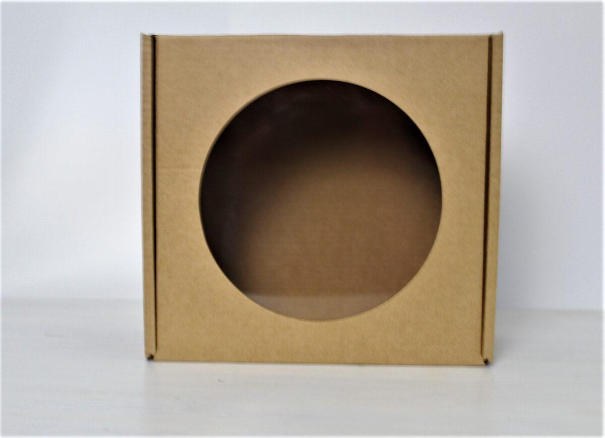 Kartona kastīte ar lodziņu 120 x 120 x 80 mm /ZSK20/
