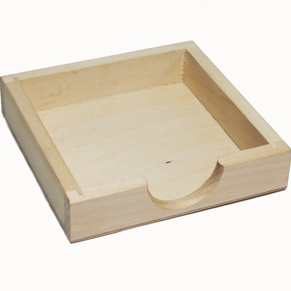 Koka piezīmju lapiņu turētājs - zems 122x122x27 mm /ZSKK181/