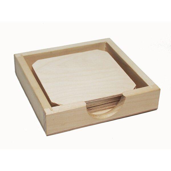 Glāžu paliktņu komplekts ar zemu kastīti 122x122x27mm /ZSKK182/