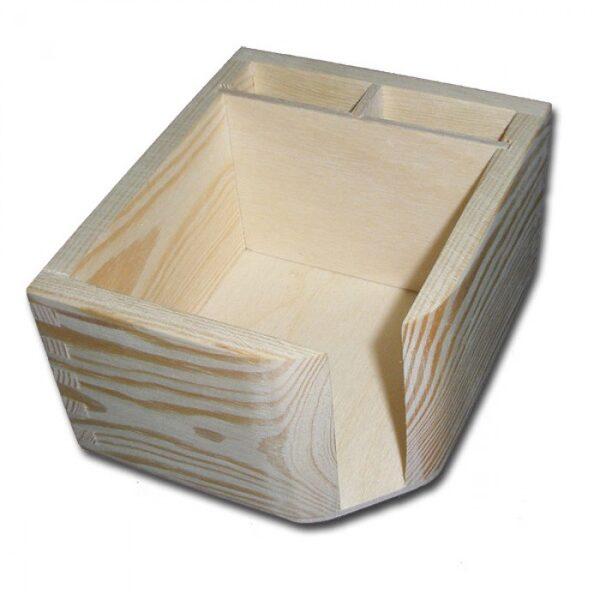 Koka organizators papīram un rakstāmpiederumiem 120x100x65 mm /ZSKK183/