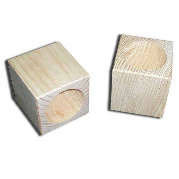 Rakstāmpiederumu koka trauks - kvadrātveida 70x70x70 mm /ZSKK184/