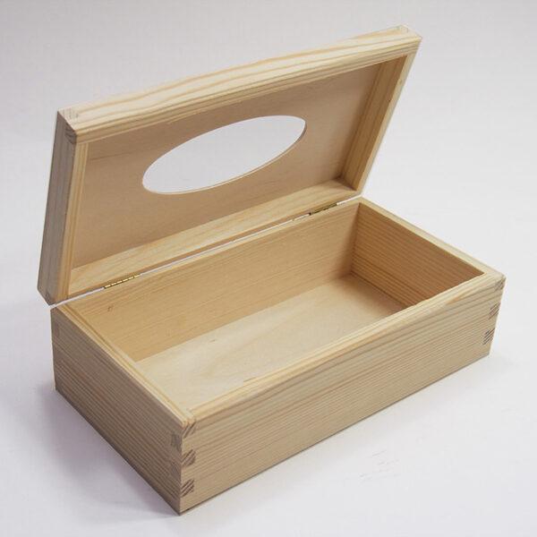 Koka kaste salvetēm - ar atveramu vāku 255x135x85 mm /ZSKK47/