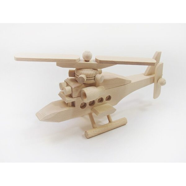 Koka rotaļlieta - helikopters II   Izmērs: 250x75x130 mm. /ZSKK219/