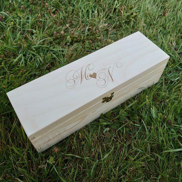 Koka vīna kaste ar aizdarīti  360 x 110 x 100 mm /ZSKK152/