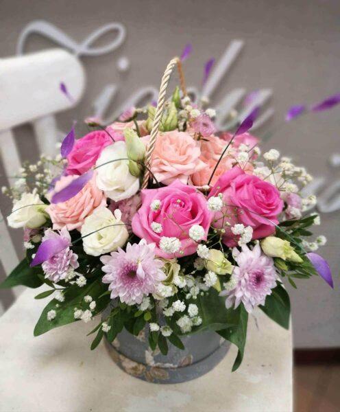 Ziedu pušķis sievietei - Iekš rozā