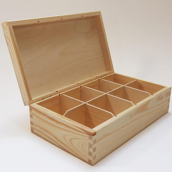 Koka kaste ar 8 nodalījumiem Izmērs: 290x175x90mm /ZSKK31/