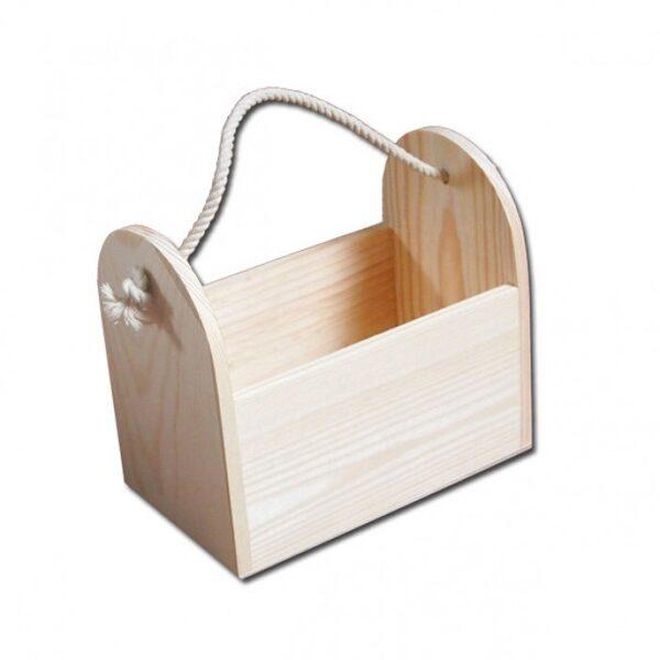 Pudeļu koka kaste ar aukliņu 195x120x175mm /ZSKK77/