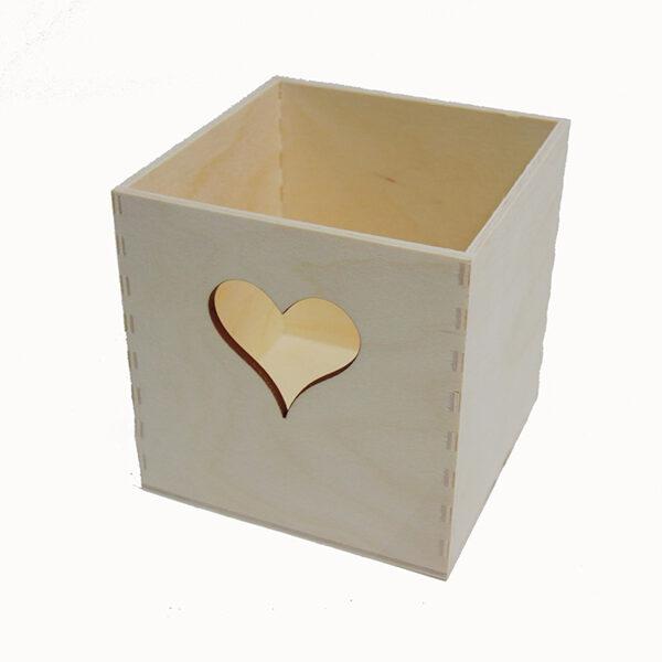 Kvadrātveida kaste ar sirsniņu 100x100x98 mm /ZSKK14/