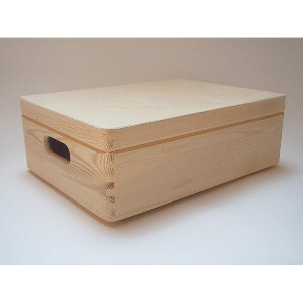 Koka mantu kaste ar vāku - ar rokturiem (vidēja) 400x300x140mm /ZSKK91/