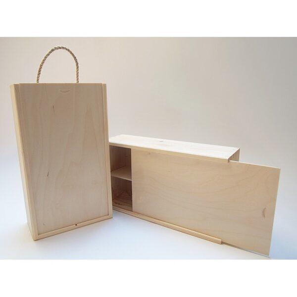 Koka kaste 2 vīna pudelēm 360x115x100mm /ZSKK57/