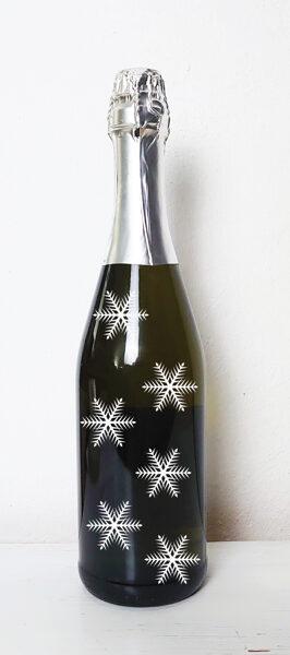 Uzlīme burciņām, pudelēm un kastītēm - Sniegpārsliņa
