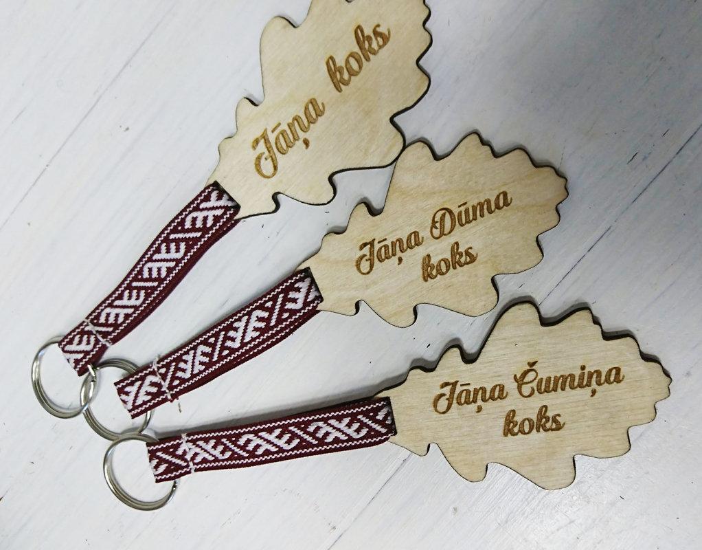 Koka atslēgu piekariņš - Ozollapa